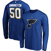NHL Men's St. Louis Blues Jordan Binnington #50 Royal Long Sleeve Player Shirt