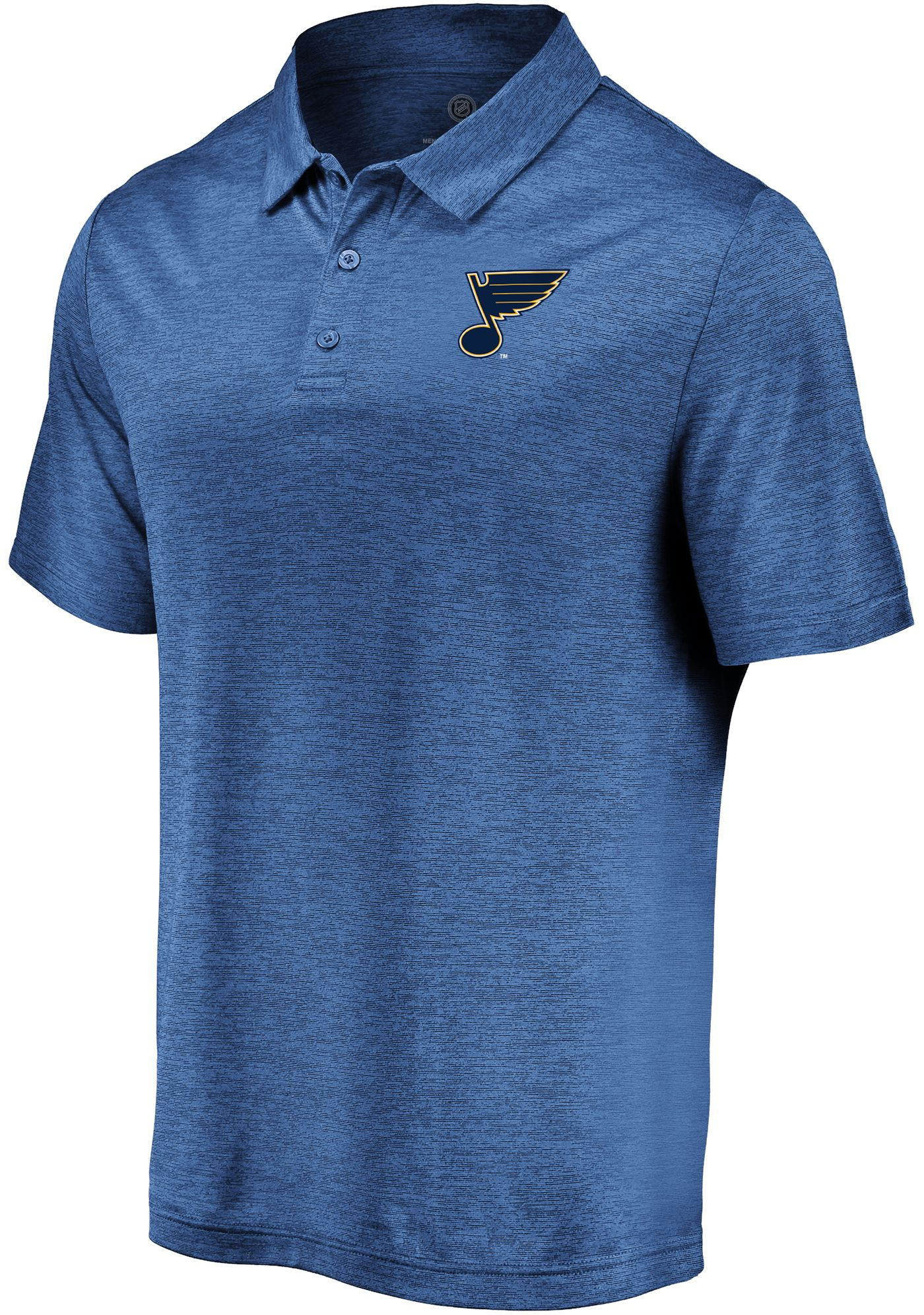 NHL Men's St. Louis Blues Iconic Royal Polo
