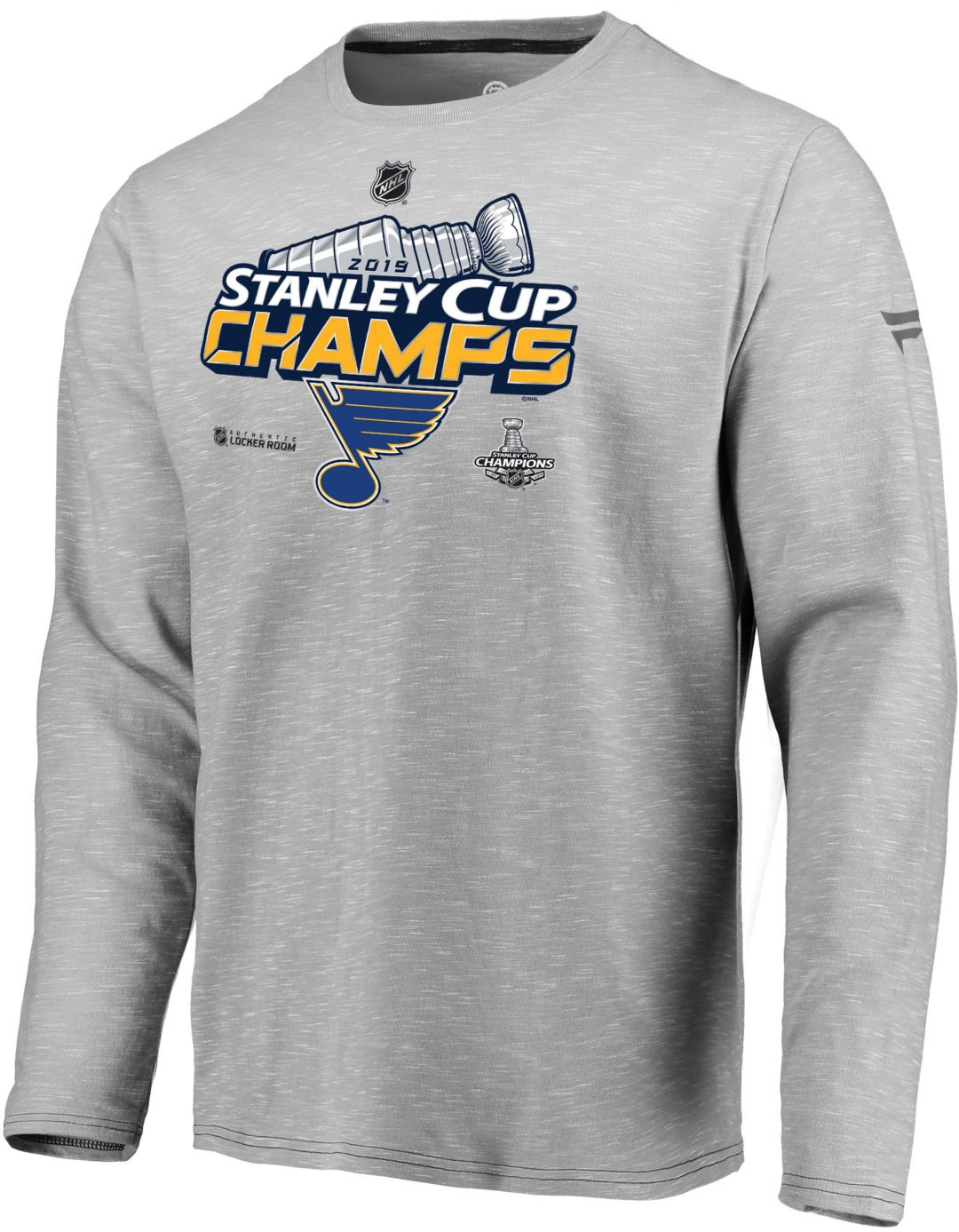 8d60a880290 NHL Men's 2019 Stanley Cup Champions St. Louis Blues Locker Room Long  Sleeve Shirt 1