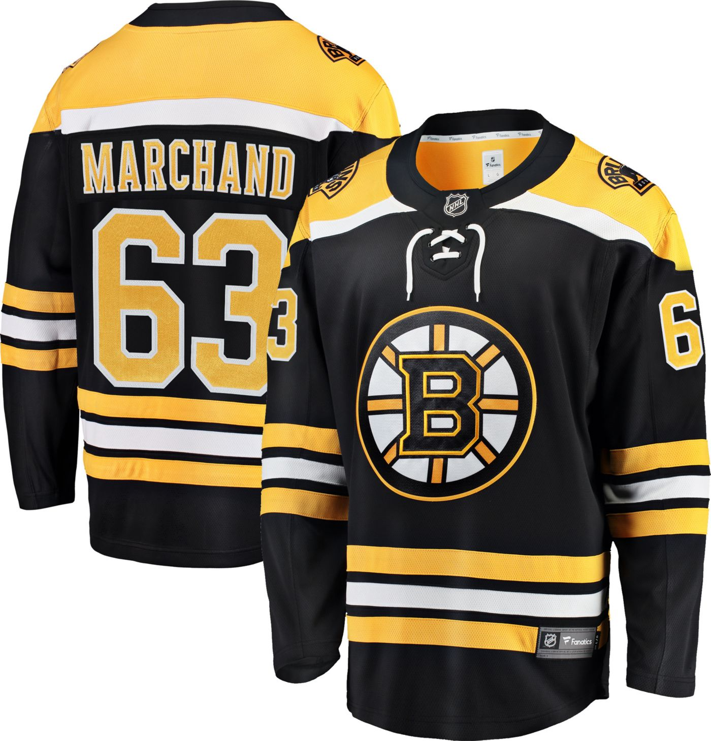 NHL Men's Boston Bruins Brad Marchand #63 Breakaway Home Replica Jersey