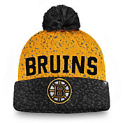 NHL Men's Boston Bruins Fan Weave Pom Knit Beanie