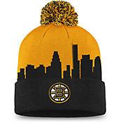 NHL Men's Boston Bruins Hometown Black Pom Knit Beanie