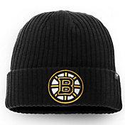 NHL Men's Boston Bruins Logo Black Knit Beanie