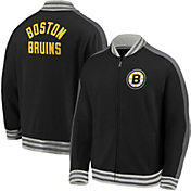 NHL Men's Boston Bruins Varsity Black Full-Zip Track Jacket