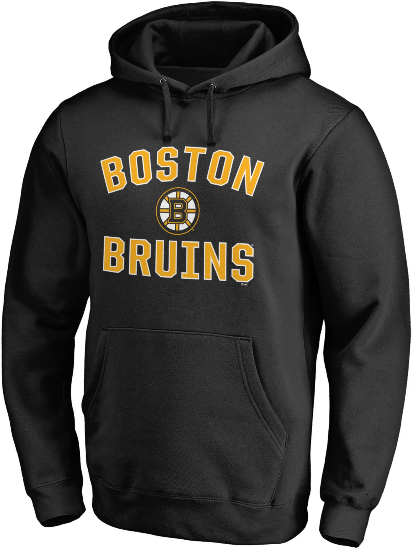 NHL Men's Boston Bruins Victory Arch Black Pullover Hoodie
