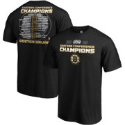 2f636b97a NHL Men's 2019 NHL Eastern Conference Champions Boston Bruins Roster T-Shirt