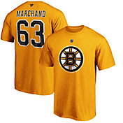 NHL Men's Boston Bruins Brad Marchand #63 Gold Player T-Shirt