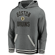 NHL Men's Boston Bruins Upper Class Heather Grey Pullover Hoodie
