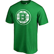 NHL Men's 2019 St. Patrick's Day Boston Bruins Logo Green T-Shirt