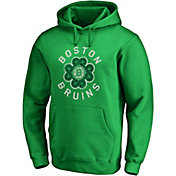NHL Men's 2019 St. Patrick's Day Boston Bruins Luck Green Pullover Hoodie