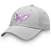 NHL Men's Washington Capitals Hockey Fights Cancer Snapback Adjustable Hat