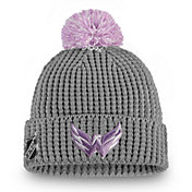 NHL Women's Washington Capitals Hockey Fights Cancer Pom Knit Beanie