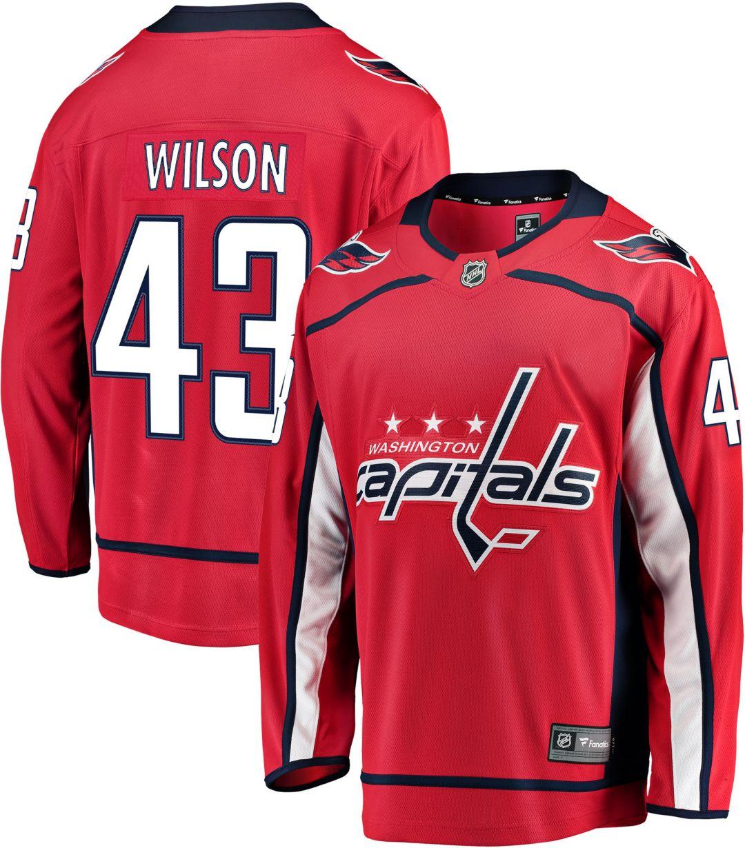 reputable site 21488 ffbdd NHL Men's Washington Capitals Tom Wilson #43 Breakaway Home Replica Jersey