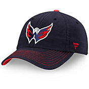 NHL Men's Washington Capitals Fundamental Navy Adjustable Hat