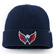 NHL Men's Washington Capitals Logo Navy Knit Beanie