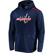 NHL Men's Washington Capitals Authentic Pro Rinkside Fleece Navy Pullover Hoodie