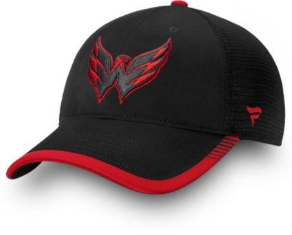 760487ec017 NHL Men s Washington Capitals Stripe Trucker Navy Snapback Adjustable Hat.  noImageFound