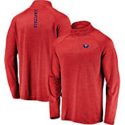 NHL Men's Washington Capitals Contend Red Heathered Quarter-Zip Pullover
