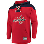 NHL Men's Washington Capitals Lace Up Red Pullover Hoodie