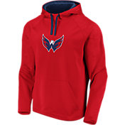 NHL Men's Washington Capitals Logo Red Pullover Hoodie