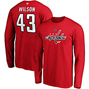 NHL Men's Washington Capitals Tom Wilson #43 Red Long Sleeve Player Shirt