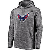ac6c1306295a Majestic Mens 2019 NHL Stanley Cup Playoffs Authentic Pro Washington  Capitals Heather Grey Hoodie