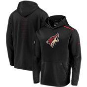 NHL Men's Arizona Coyotes Authentic Pro Rinkside Fleece Black Pullover Hoodie