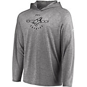 Majestic Men's Arizona Coyotes Fan Flow Heather Grey Long Sleeve Hoodie Shirt