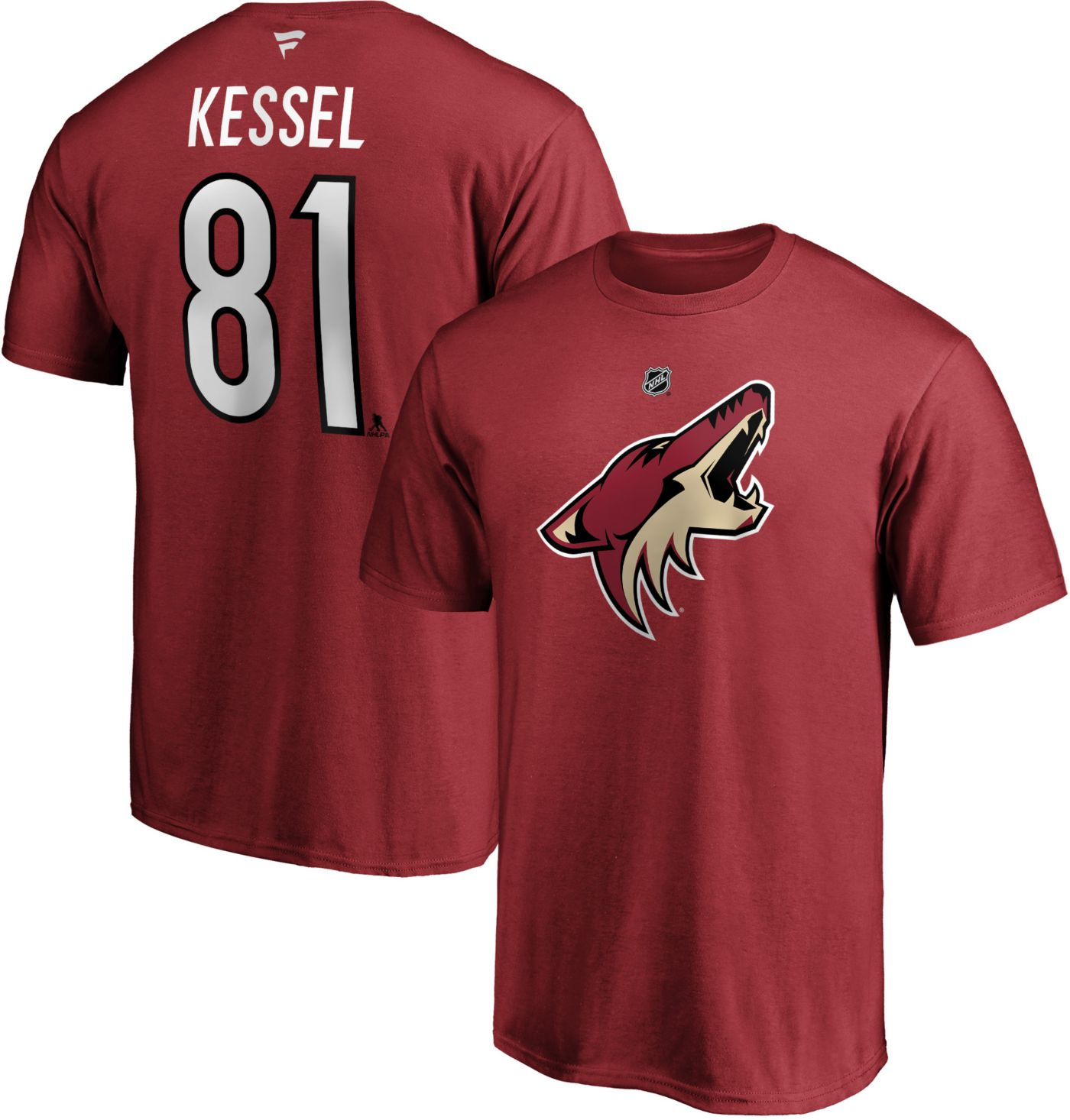 NHL Men's Arizona Coyotes Phil Kessel #81 Red Player T-Shirt