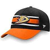 NHL Men's Anaheim Ducks Alpha Black Adjustable Hat