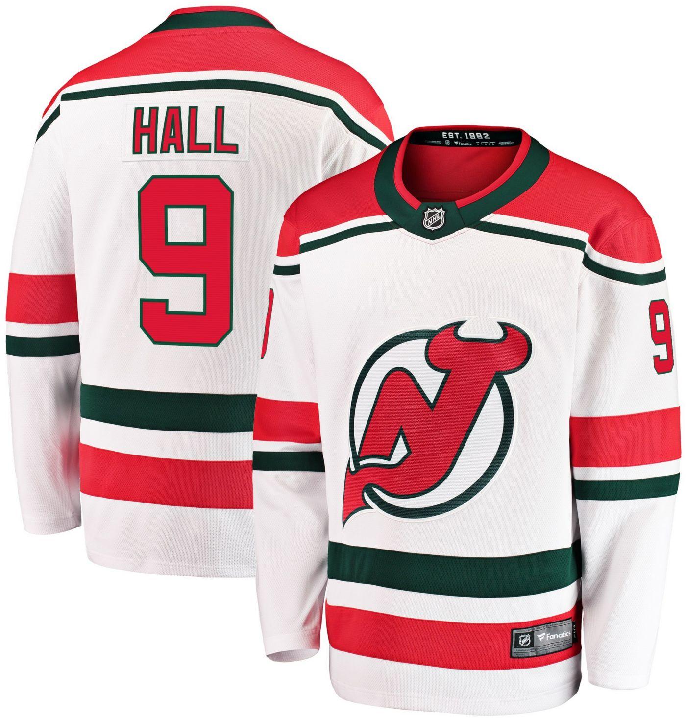 NHL Men's New Jersey Devils Taylor Hall #9 Breakaway Retro Replica Jersey