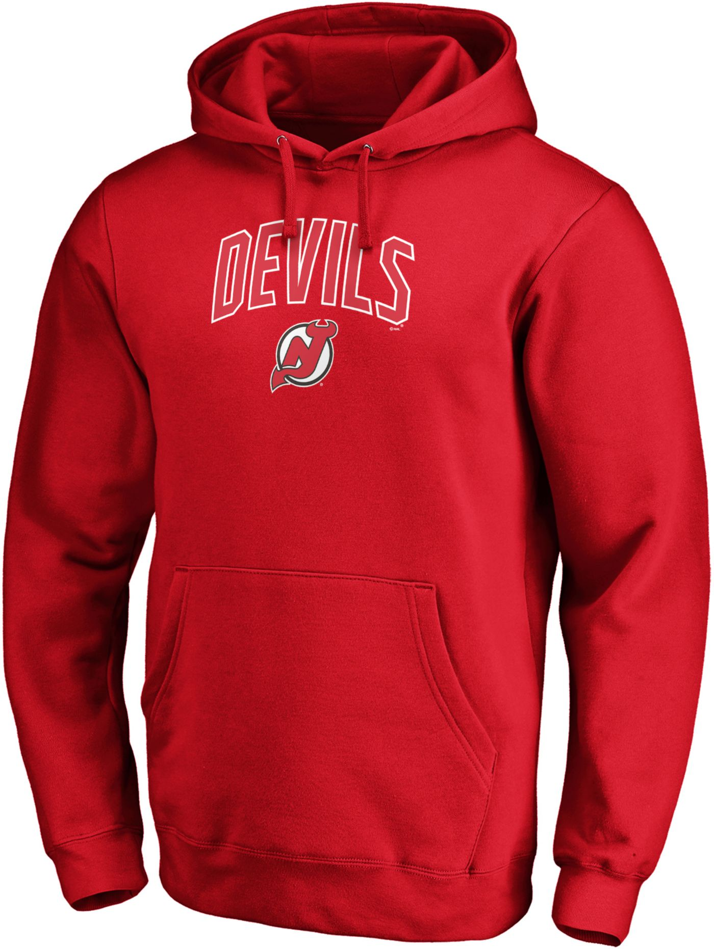 NHL Men's New Jersey Devils Engage Red Pullover Hoodie