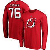 NHL Men's New Jersey Devils P.K. Subban #76 Red Long Sleeve Player Shirt