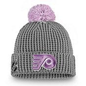 NHL Women's Philadelphia Flyers Hockey Fights Cancer Pom Knit Beanie