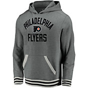 NHL Men's Philadelphia Flyers Upper Class Heather Grey Pullover Hoodie