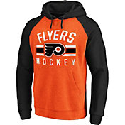 NHL Men's Philadelphia Flyers Raglan Orange/Black Pullover Hoodie