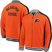 NHL Men's Philadelphia Flyers Varsity Orange Full-Zip Track Jacket