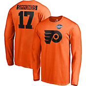 NHL Men's 2019 Stadium Series Philadelphia Flyers Wayne Simmonds #17 Player Long Sleeve Orange Shirt