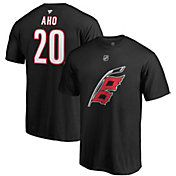 NHL Men's Carolina Hurricanes Sebastian Aho #20 Black Player T-Shirt