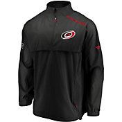 NHL Men's Carolina Hurricanes Authentic Pro Rinkside Black Full-Zip Jacket
