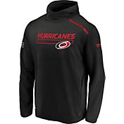 NHL Men's Carolina Hurricanes Authentic Pro Tansitional Black Hoodie