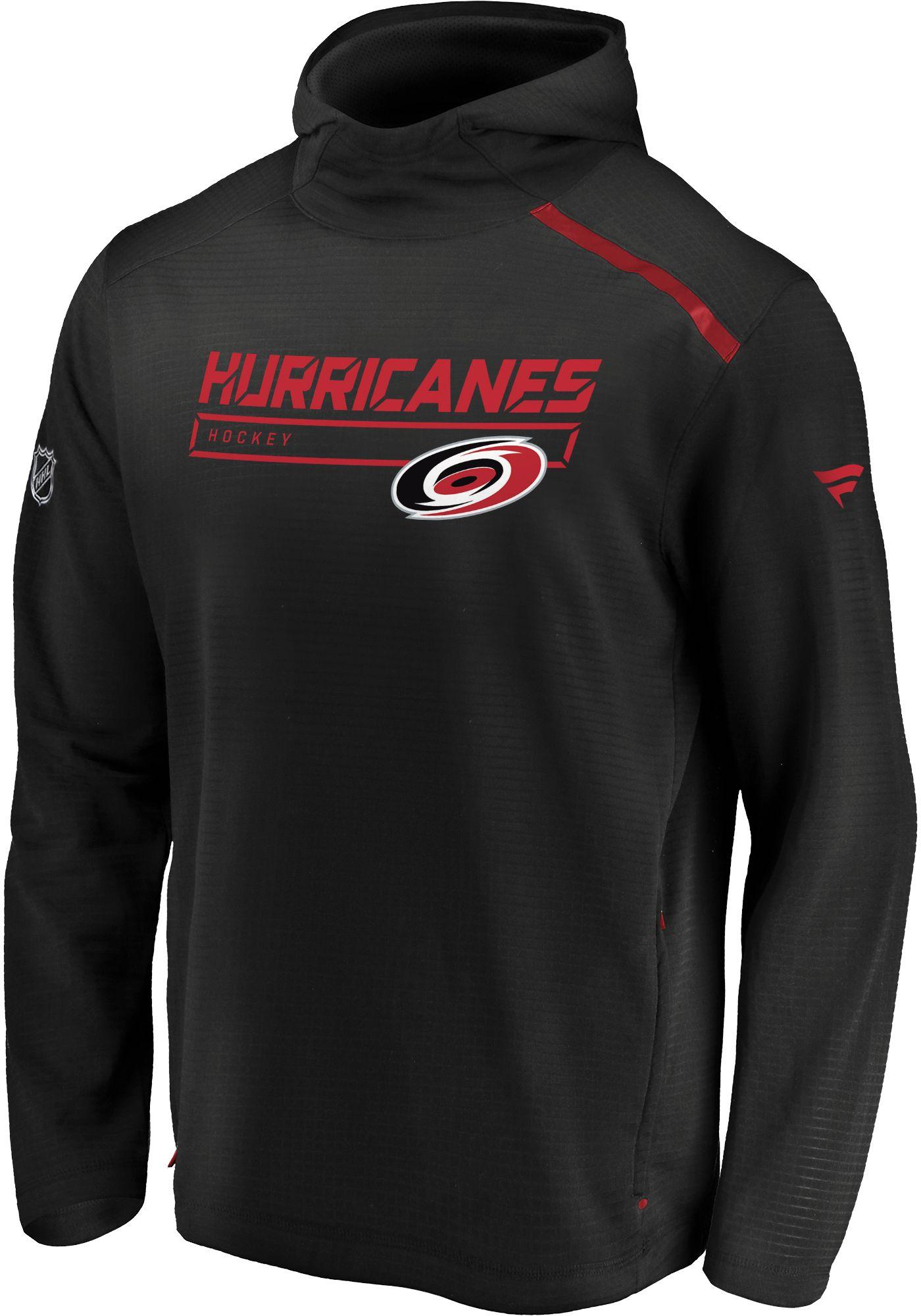 NHL Men's Carolina Hurricanes Authentic Pro Tansitional Black Hoodie