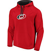 NHL Men's Carolina Hurricanes Logo Red Pullover Hoodie
