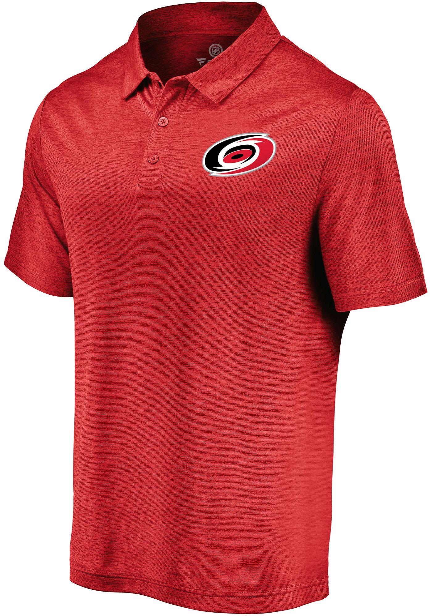 NHL Men's Carolina Hurricanes Logo Red Polo