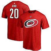 NHL Men's Carolina Hurricanes Sebastian Aho #20 Red Player T-Shirt