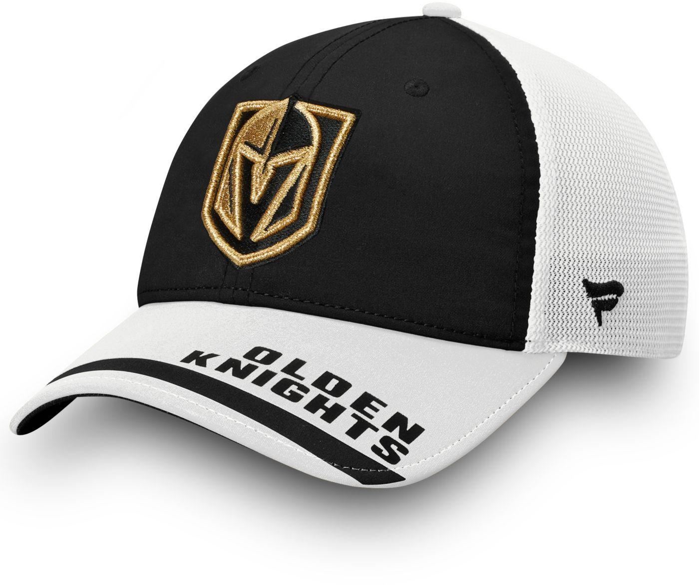 NHL Men's Vegas Golden Knights Logo Black Adjustable Hat