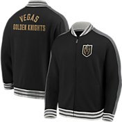 NHL Men's Vegas Golden Knights Varsity Black Full-Zip Track Jacket