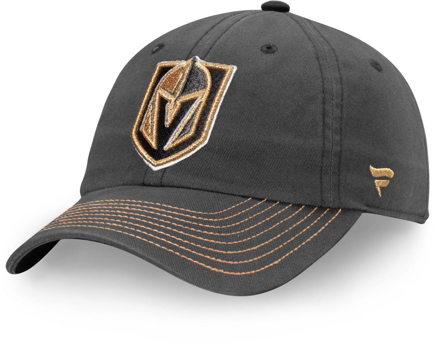 NHL Men's Vegas Golden Knights Fundamental Grey Adjustable Hat