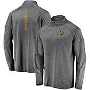 NHL Men's Vegas Golden Knights Contend Heather Grey Quarter-Zip Pullover