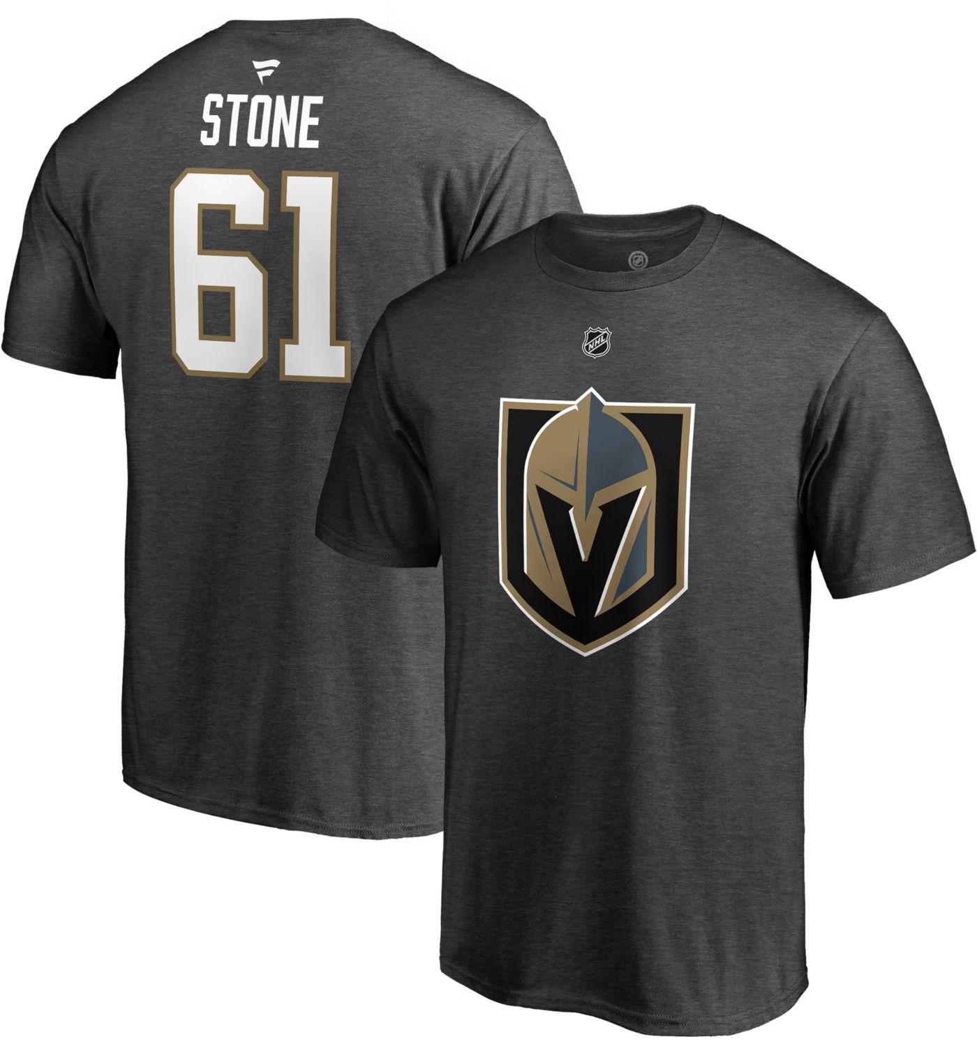 NHL Men's Vegas Golden Knights Mark Stone #61 Grey Player T-Shirt